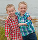 Twin boys at our Harpswell studio.